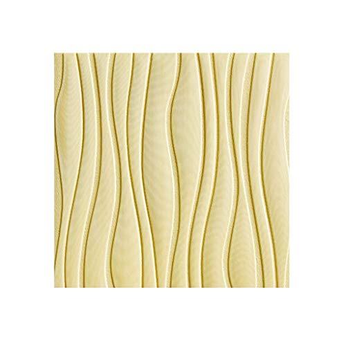 LRZS Wandpaneel Wohnzimmer 3D Wasser Wellen Tapete Anti-Collision Moderne TV Wanddekor Wandplatte wasserdichte Aufkleber 60 * 60cm Nachahmung Fliesen DIY Soft Board Peel-Stick