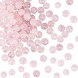 OLYCRAFT 3 hebras Cuentas de Cuarzo Rosa Natural Cuentas Redondas Sueltas de Piedras Preciosas Piedra energética para Collar de Pulsera