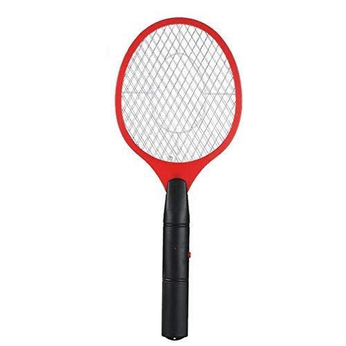 Binghotfire Batería de Carga Bug Zapper Raqueta Matamoscas eléctrico Mosquito Killer Red