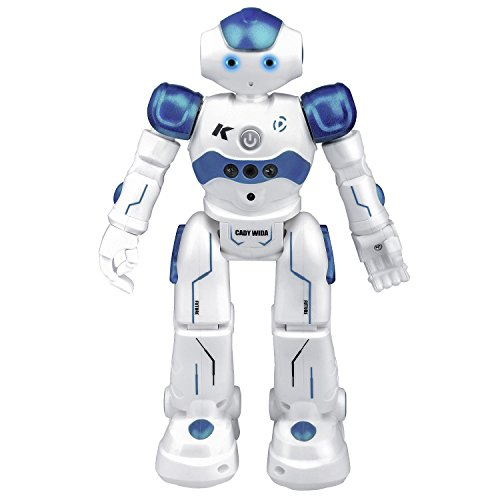 Robot Giocattolo per Bambini, kuman Robot RC Intelligente InterattivoProgrammabile Control Azione del Sensore di Gesto E Cantando/Danza con USB Ricarica e Radiocomandato R2
