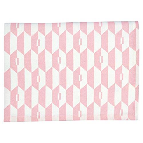 GreenGate Gate Noir - Tischdecke, Tischtuch, Decke - Aurelie Pink - 100% Baumwolle - 150 x 150 cm - mit Art Deco Muster