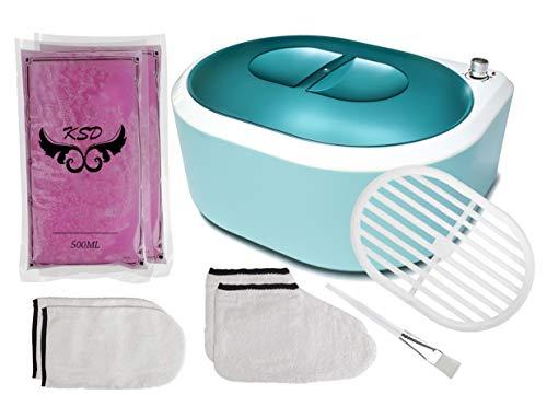 Calentador de Cera de Parafina, Máquina de Cera de Parafina, Baño de Parafina de Calentamiento Rápido para Manos y Pies (Turquesa)