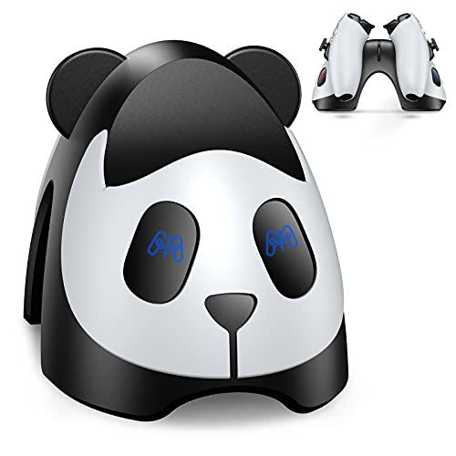 ECHTPower Cargador Mando PS5, 2H Rápido Estación de Carga para Playstation 5 DualSense, Base de Carga para Mando PS5, Dos Pantallas Independientes, Control Individual, Apariencia de Panda, Kawaii