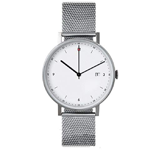 irugh Ultra-Thin Watch, Neutral Quartz Leather Watch, Minimalist Stainless Steel Watch, 50cm Waterproof