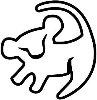 UR Impressions Baby Simba Drawing Decal Vinyl Sticker Graphics Car Truck SUV Van Wall Window Laptop|5.5 Inch Black URI009-MB