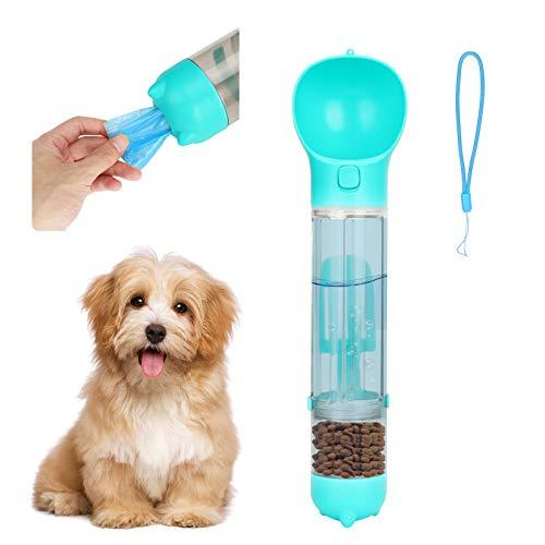 Brynnl Hundewasserflasche zum Laufen, 500 ml multifunktionale Hundehundekatzenwasserflasche mit Futterbehälter, Hundekotbeutel und Kleiner Schaufel, Haustierwasserflasche für Reisen im Freien