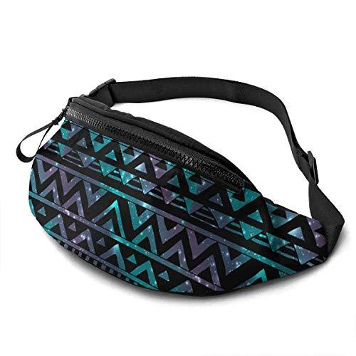 NHCY BCCYZ Riñonera Ajustable Azteca Negra Tribal Running Bag Bag