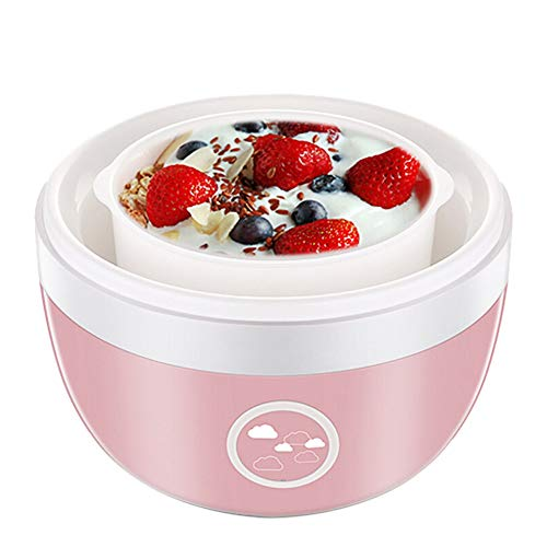 TXOZ - Macchina per yogurt Bulk con display One Touch + contenitore con coperchio, ideale per bio, dolce, aromatizzato, livello, o senza zucchero, per bambini, bambini e parfait