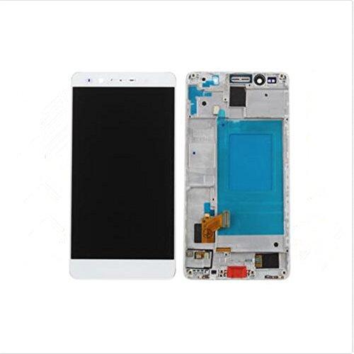 Huawei Honor 7 Display im Komplettset LCD Ersatz Für Touchscreen Glas Reparatur (Weiß + Rahmen)