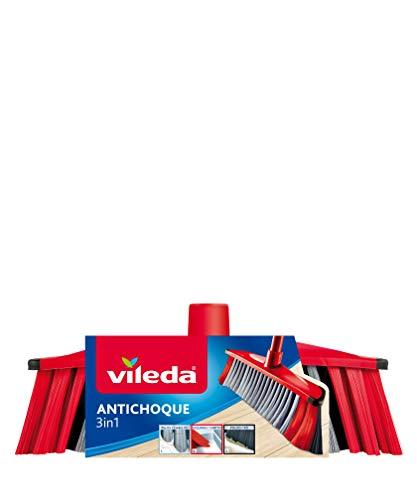 Vileda - Recambio cepillo antichoque 3 en 1, 3 tipos de cerd