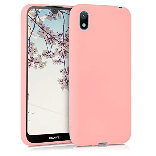 kwmobile Cover Compatibile con Huawei Y5 (2019) - Cover Custodia in Silicone TPU - Backcover Protezione Posteriore- Oro Rosa Matt