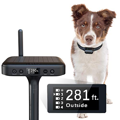Depp's Electric Fence for Dogs Upgrade Wireless Dog Fence, [1 Ft Accuracy] Reliable Consistent Barrier Wireless Containment System, Electric Dog Fence Include Transmitter + Receiver Collar