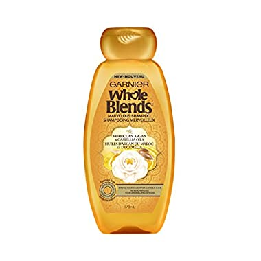 Garnier Whole Blends Shampoo with Moroccan Argan & Camellia Oils Extracts, 12.5 fl. oz.