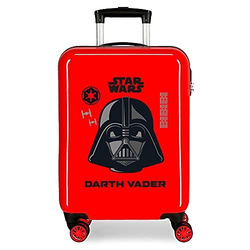 Star Wars Darth Vader Maleta de Cabina Roja 38x55x20 cms Rígida ABS Cierre de combinación Lateral 34L 2 kgs 4 Ruedas Dobles Equipaje de Mano