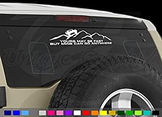 Unique Graphix - Yours May be Fast but Mine can go Anywhere FJ Cruiser Decal 12 inch