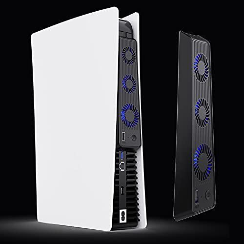 PS5冷却ファン PS5用クーリングファン PlayStation 5 USBクーラー 3つファン 急速冷却 静音 装着簡単 排熱 熱対策 USBポート 挿入起動 省スペース 耐久性 プレイステーション5対応