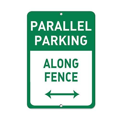 Modtory Parallel Parkeren Langs Hek Parking Teken Aluminium Metalen Teken