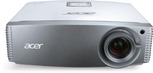 Acer H9501BD High End Full HD 3D DLP-Projektor (3D-fähig direkt über HDMI 1.4a, Kontrast 50.000:1, 2.100 ANSI Lumen, 2x HDMI 1.4a, Blu-ray 3D, Lens Shift, 1x 12V Trigger) silber