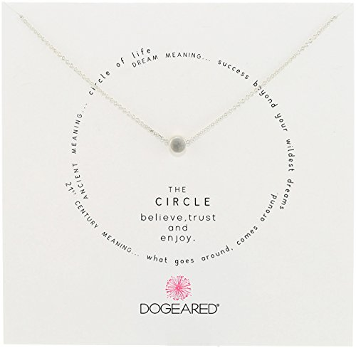 Dogeared Circle Sterling Silver Cirlce Charm Necklace, 16