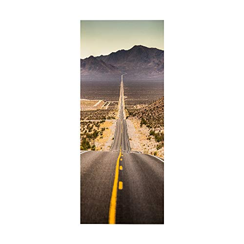 tonywu Etiqueta de la Puerta - Mural de Carretera 3D, Vinilo Autoadhesivo DIY Desmontable, Dormitorio Sala de Estar Baño Calcomanía Arte Puerta Película Cartel Decoración de la Puerta
