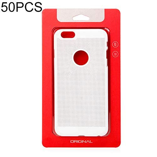 Verpakking-Packaging-Seal Tassen-Vacuümzak 50 PCS Hoge Kwaliteit Cellphone Case Kraft Paper Pakket Doos voor iPhone(5.5inch) Grootte: 119x210 mm Rood