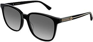 غوتشي نظارات شمسية للنساء، لون العدسة رمادي