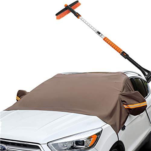 AstroAI Snow Brush and Ice Scraper&Windshield Snow Cover Bundle