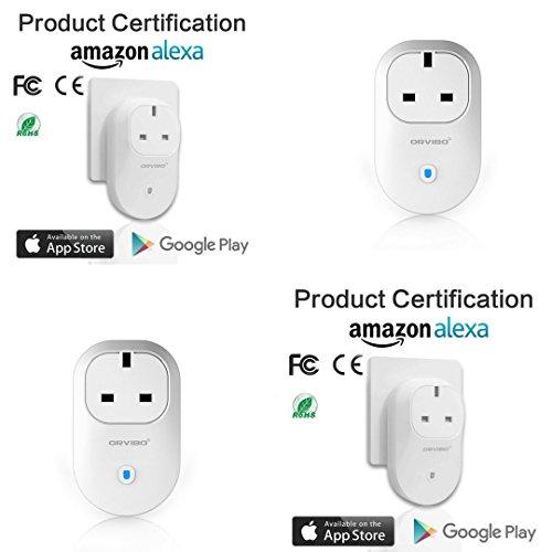 Keraiz Orvibo B25UK WiFi Smart Plug (Pack de 4)