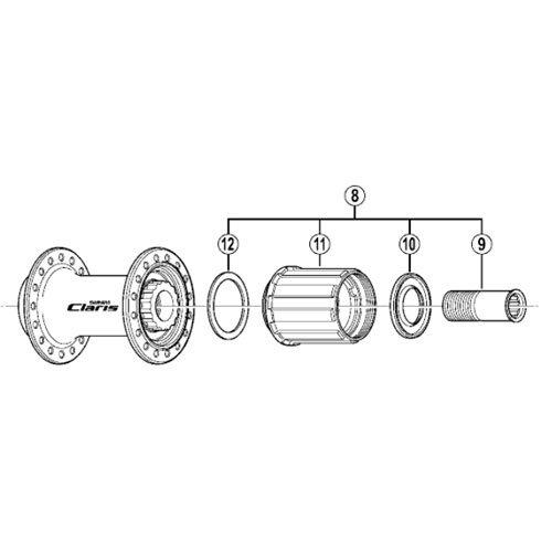 Shimano Corps de roue libre FH-2400 no d'art. Y-3E198040.