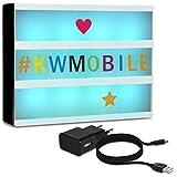 kwmobile Farbwechsel LED Lichtbox A4-7 Farben 252x Buchstaben bunt und schwarz USB Netzteil - Cinema...