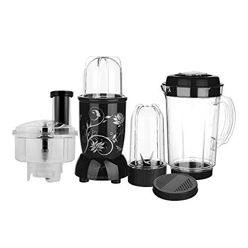 Nutri-Blend Compact Food Processor, 22000 RPM Mixer-Grinder, Chopper, Food Processor, SS Blades, 4 Unbreakable Jars, 2 Years Warranty, 400W-Black, Includes Exclusive Recipe Book By Chef Sanjeev Kapoor