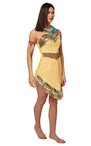 Rubies - Disfraz oficial de Pocahontas de Disney para mujer adulta - Talla L.