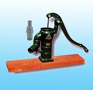 手押しポンプ<ガチャポン>T32PDF 堀井戸用(台付きタイプ)、プラ玉ピストン方式、木台板タイプ、底フート弁つき