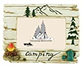 Camping Campfire Tea Pot Photo Picture Frame, 4x6, 7-inch, Horizontal