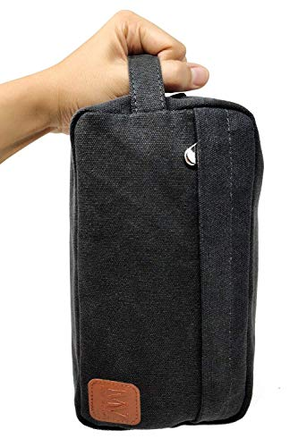 Men's Travel Toiletry Bag - MARC VALERY Mens Dopp Kit, Grooming & Shaving, Large Toiletry Kit For Men With Waterproof Lining And Heavy Duty Metal Zip For All Travel Toiletries