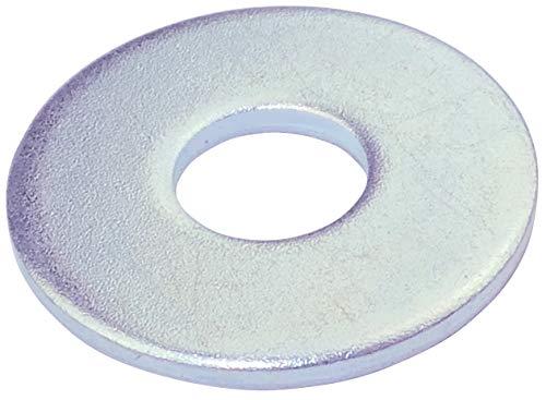 AERZETIX - Juego de 20 arandelas planas grandes - M5-15mm - 1.3mm - Acero galvanizado - Metal - DIN9021 - Bricolaje - C46593