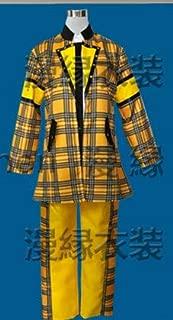 コスプレ衣装◆W519◎ヘイセイジャンプ Hey!Say!JUMP チェック 黄色のチェック 八乙女光