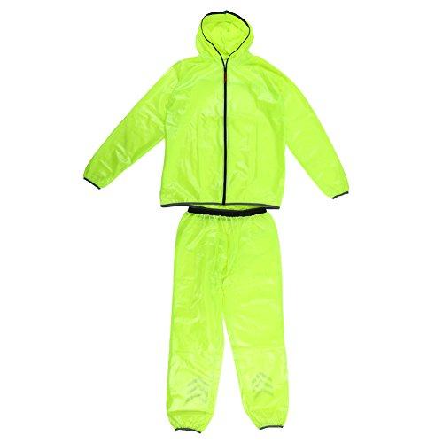 Wal front Vêtements de Pluie Imperméables Unisexe en Plein air pour Hommes(L)