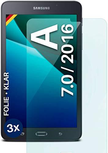 moex Protector de pantalla transparente compatible con Samsung Galaxy Tab A 7.0 2016 – Protector de pantalla transparente, protector de pantalla HD, fino y resistente a los arañazos, 3 unidades