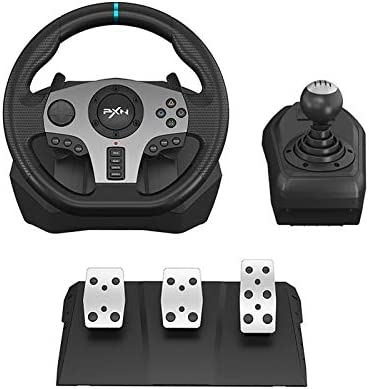 270 900 Racing Wheel PXN V9 USB PC Race Game Driving Steering Wheel with Clutch Pedals and Shifter product image