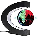 """Magnetic Floating and Levitating Globes 3""""World map with led Lights,Cool Stuff and Office décor for Men Unique Birthday Gifts…"""