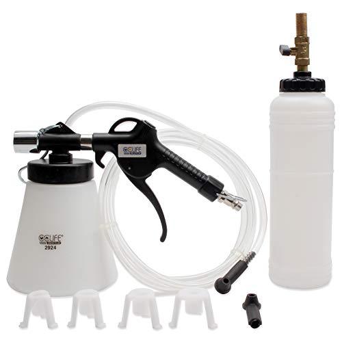 CCLIFE Bremsenentlüftungsgerät Druckluft Bremsenentlüfter Nachfüllflasche Entlüften Werkzeug