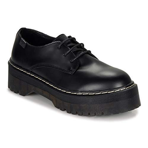 COOLWAY Abias, Zapatos de Cordones Oxford para Mujer, Negro (Black 000), 36 EU