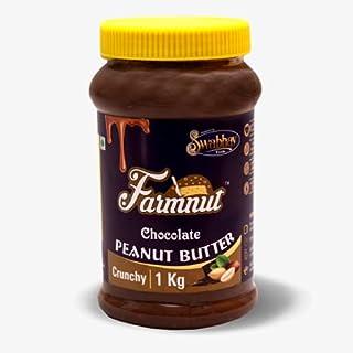 JOEN DIVERSE FARMNUT Chocolate Peanut Butter (Crunchy) (1 Kg), Gluten Free, Non-GMO, Vegan, Chocolaty Flavor, Made with Ro...