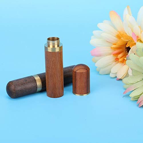 Komfortable Nadelbox, Nadelbehälter, für DIY-Lederhandwerk Lederhandwerksarbeiten Anfängerhandwerk für Profis Amateure(Ebony + Rosewood)