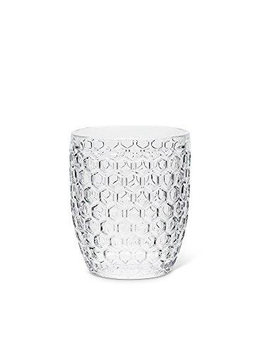 Abbott Collection 27-HONEYCOMB/OF Vaso de 4 pulgadas de alto (10 oz), 4 pulgadas de alto, transparente