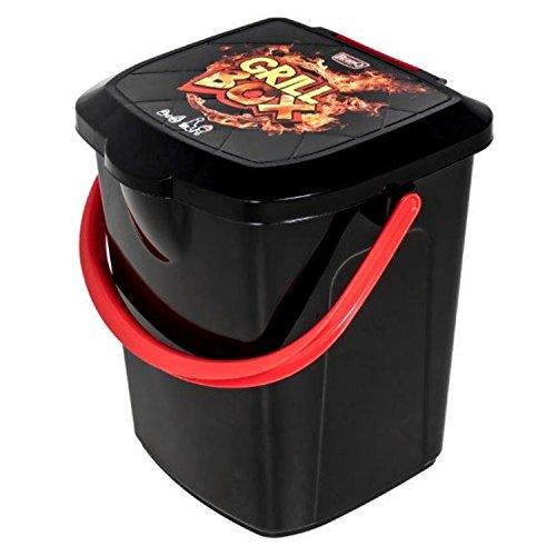 BranQ - Home essential Grill Box 22l, Kunststoff PP, Schwarz, 31x31x38,5 cm (LxBxH)