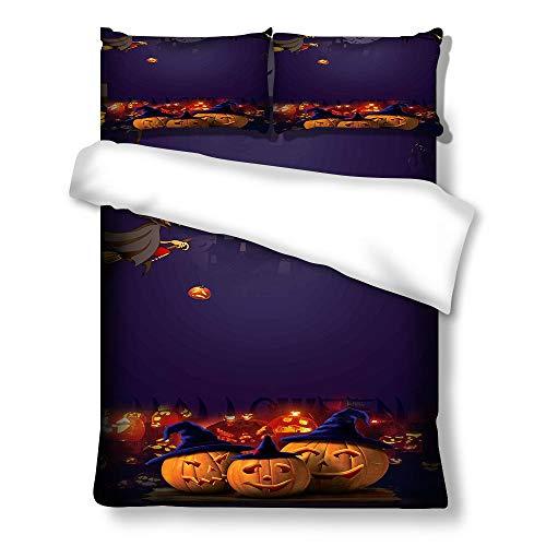 geek cook Bedding sets king,Three-piece four-piece bedding set Halloween duvet cover-a067_US-KING259cm×229cm
