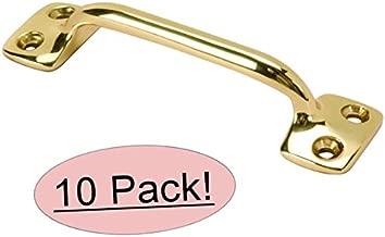 10 Pack - Designers Impressions Bright Brass Window Sash Lift : 4178
