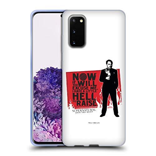 Offizielle Supernatural Sam, Dean & Castiel Grafik Soft Gel Huelle kompatibel mit Samsung Galaxy S20 / S20 5G